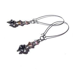 Gothic Glam Gypsy Crystal Earrings Darkly Sparkly
